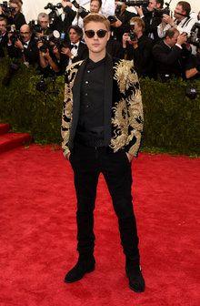 Justin Bieber in Balmain at the 2015 Met Gala
