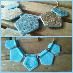https://flic.kr/p/zoShfN   Pentagoni   Polymer clay necklace. Cane vermicelle by Hélène Jeanclaude (Les Ethiopiques)