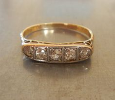 Antique+Diamond+Engagement+Ring+by+AntiqueSparkle+on+Etsy,+$585.00