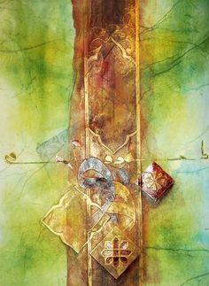 horoufs Arabic Calligraphy Art, Arabic Art, Art Arabe, Art En Ligne, Art Original, Sculpture, Arabesque, Stone Art, Beautiful Paintings