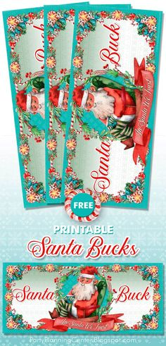 FREE Printable Santa Bucks Christmas Gift Certificates | In addition to the printable art, the page includes a list of meaningful non-toy gifts that the Santa Bucks can be exchanged for. #GiftCertificates #SantaBucks #GiftCards #ChristmasPrintables #StockingStuffers #NonToyGifts #CarlaChadwick Christmas Printables, Party Printables, Free Printables, Printable Art, Christmas Gifts For Kids, Holiday Crafts, Christmas Morning, Christmas Decorations, Blank Certificate Template