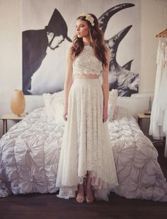 Lace bridal separates avilable from Luella's Bridal