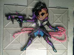 Overwatch Sombra Perler by TehMorrison.deviantart.com on @DeviantArt