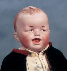 """German Bisque Character with Crooked Smile,8306,by Gebruder Heubach  14"""" (36 cm.)"""