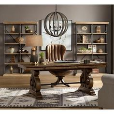 Home office design should be comfortable, clutter-free and creative. Because great new ideas and inspiration come from a great home Home Office Space, Home Office Design, Home Office Decor, Home Decor, Office Ideas, Office Designs, Library Design, Rustic Office Decor, Design Desk