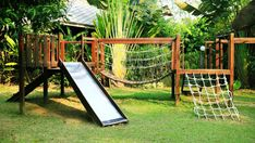 Outdoor Fun For Kids, Backyard For Kids, Backyard Projects, Backyard Playset, Backyard Playground, Aquarium Landscape, Tree House Plans, Tree House Designs, Play Houses