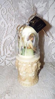 ALDA'S FOREVER SCENTED CANDLE VICTORIAN ANGELS DESIGN W/ANGELS BASE HOLDER NEW #aldasforever