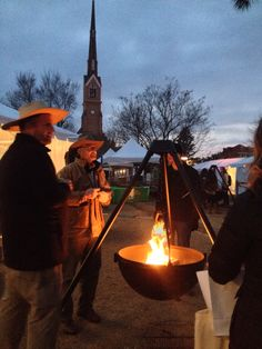 Cowboy cauldrons warmed up Marion Square. #chswff2015