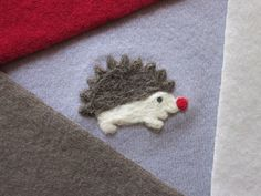 Hedgehog Cashmere Patchwork Baby Blanket Recycled Sweaters Made to Order your color choice - baby boy Patchwork Quilt Needle felted hedgies. $84.00, via Etsy.