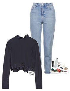"""""""I promised myself I wouldn't let you complete me"""" by kthayer01 ❤ liked on Polyvore featuring Topshop, 3.1 Phillip Lim, Gucci, S'well, Chanel, Guerlain, MAC Cosmetics, NARS Cosmetics, Allurez and Lana"""
