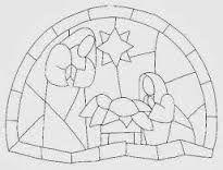 Resultado de imagen para vitrales navideños de papel
