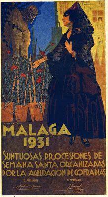 Cartel de Francisco Hohenleiter y Castro, Semana Santa de Málaga de 1931.
