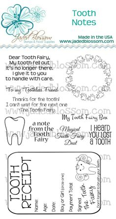 Tooth Fairy notes - Click image to find more Kids Pinterest pins. #tooth fairy printable