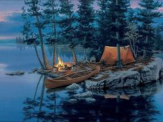 This is a little piece of heaven! Camping, canoeing and a great campfire is all I need!