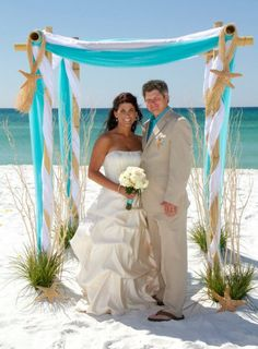 Affordable Destin Florida Beach Wedding Packages/ All Inclusive Beach Weddings in Destin Florida Wedding Ceremony Ideas, Beach Wedding Arbors, Beach Wedding Reception, Wedding Canopy, Beach Ceremony, Beach Wedding Decorations, Wedding Vows, Destination Wedding, Dream Wedding