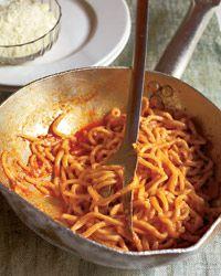 Pasta all'Amatriciana  di Anna Denta, Osteria San Cesario - amazing food, amazing lady