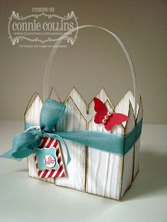 Stampin' Up! Easter by Connie C at Constantly Stamping: Picket Fence Easter Basket