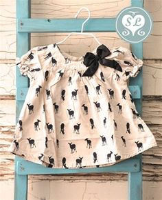 Baby Deer Dress with a Bow!