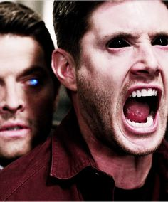 I love how both of our souls are showing. (Not really Destiel but sorta. I'll just leave it here) Supernatural Demon Dean, Supernatural Season 10, Dean And Cas, Twist And Shout, Angels And Demons, Misha Collins, Best Tv Shows, Dean Winchester, Superwholock