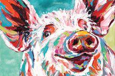 Canvas Wall Art, Canvas Prints, Art Prints, Wall Mural, Murals, Barnyard Animals, Arte Pop, Animal Paintings, Farm Paintings