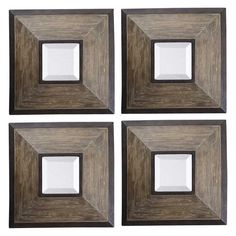 Uttermost Fendrel Squares with Mirrors Wall Art - Set of 4 - 13817