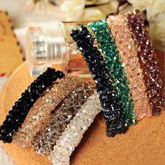 RE 2018 Fashion Bling Crystal Hair Pins Headwear For Women Girls Rhinestone  Hair Clips Barrette Style 22e344708795