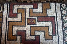 A Public Bath Glass mosaic discovered in Greece http://mosaicblues.blogspot.com/2015/01/glass-floor-mosaic-discovered-in.html