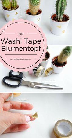 5-Minuten-DIY: Blumentopf mit Washi Tape ganz einfach individualisieren
