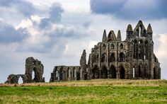 Download wallpapers Abbey of Whitby, ruins, castle, Gothic architecture, England, UK
