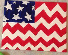"DIY canvas painting ""American Flag"""