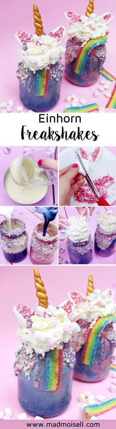 Unicorn freak shakes | Unicorn party ideas