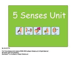 5 Senses Unit - For Children with Autism or ECE Classroom!