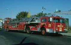 Boston Fire Trucks | ... Maxim 100ft aerial ladder truck, circa 1978. Shop #229. Shop Record