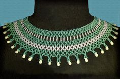 Free pattern for necklace Samira