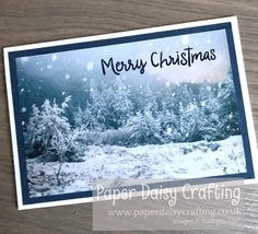 Paper Daisy Crafting: #17 Card Making for Beginners - Quick and Easy Christmas Cards with Feels Like Frost