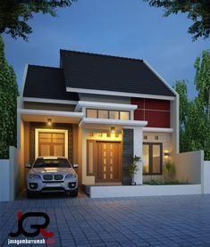 Narrow House Designs, Modern Small House Design, Modern Minimalist House, Simple House Design, House Front Design, Tiny House Design, Simple House Exterior, Small House Exteriors, Modern Bungalow House