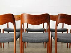 Set of 8 Danish Teak Dining Chairs Moller 71 by MadsenModern, $3800.00  --- these chairs remind me of my mother, she loved & had Danish chairs---wish I still had them!
