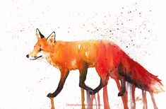 Just another fox illustration! Mixed media: watercolor, ink and colored pens! Reference: www.flickr.com/photos/pics28pi… By Enjoy!