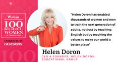 Helen Doron, Adolescence, Business Women, Countries, Congratulations, How To Become, Language, Teaching, Education