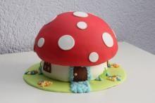 Paddestoelen taart mushroom cake