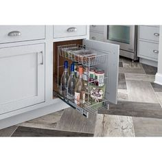 Kitchen Cabinet Remodel 3 Tier Compact Kitchen Cabinet Pull Out Basket - Kitchen Cabinet Pulls, Kitchen Cabinet Organization, Kitchen Cabinets, Cabinet Ideas, Storage Organization, Kitchen Storage, Countertop Organization, Home Design, Layout Design