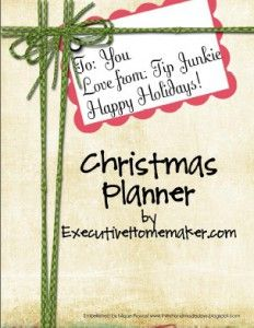 Printables for an organized Christmas