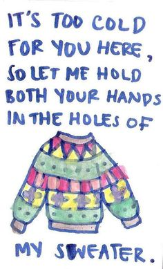 sweater weather by The Neighbourhood @cmsloukji haha I recognized these lyrics and realized you showed this song to me!