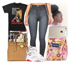 """"""".."""" by dimpleface-tyler ❤ liked on Polyvore featuring JanSport, Casetify and Retrò"""