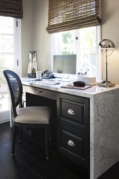 Marble office desk | Jeff Trotter Design