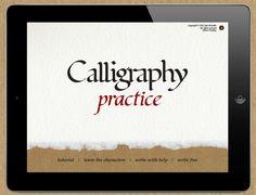 calligraphy practice app on iPad