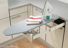 Image result for fold away ironing board drawer