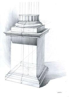 Michal Suffczynski Doric order,pencil study