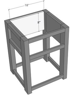 Farmhouse nightstand plans that will give your bedroom a Joanna Gaines farmhouse vibe. These free DIY nightstand plans are an easy step-by-step tutorial on how to recreate a farmhouse nightstand for your home. Diy Furniture Plans, Farmhouse Nightstand, House Furniture Design, Furniture Plans, Diy Pallet Furniture, Wood Shop Projects, Rustic Furniture Diy, Diy Home Furniture, Diy Furniture Building
