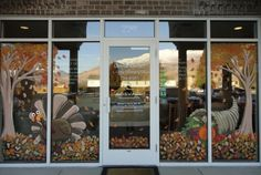 holiday painted window art | window painting/ seasons Spring,Summer, Fall etc.